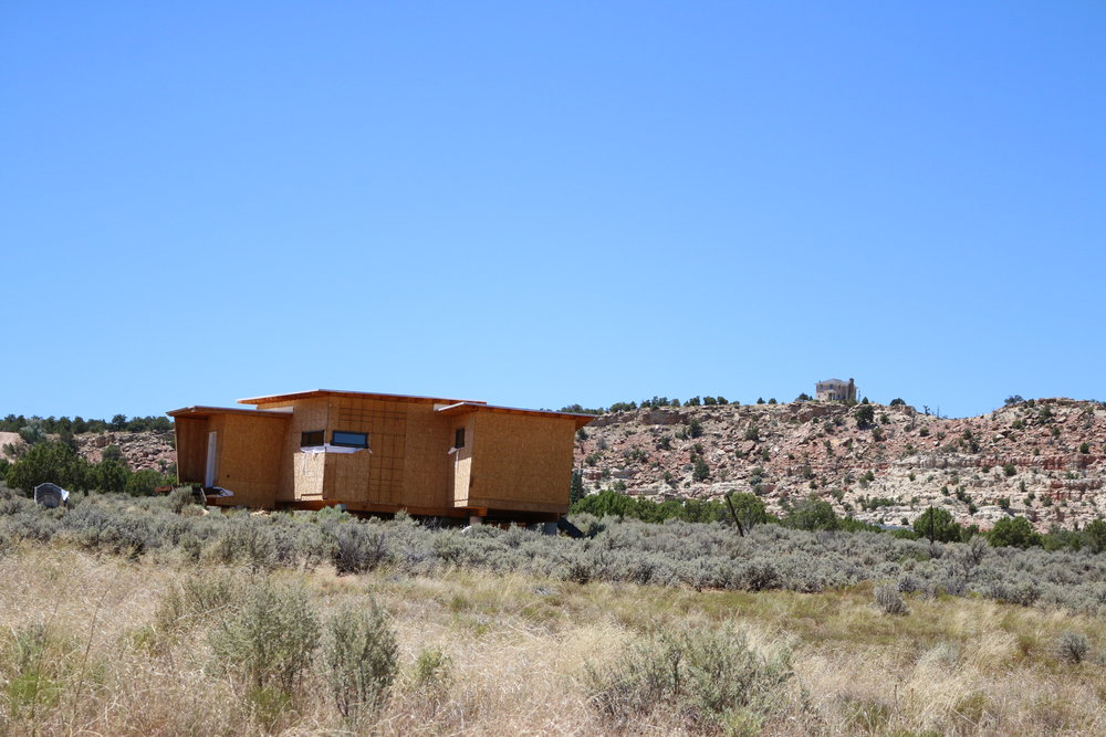 NEW MODERN CONSTRUCTION - LIKELY A SECOND HOME - IN ESCALANTE UTAH.  PHOTO PROVIDED BY RURAL PLANNING GROUP.