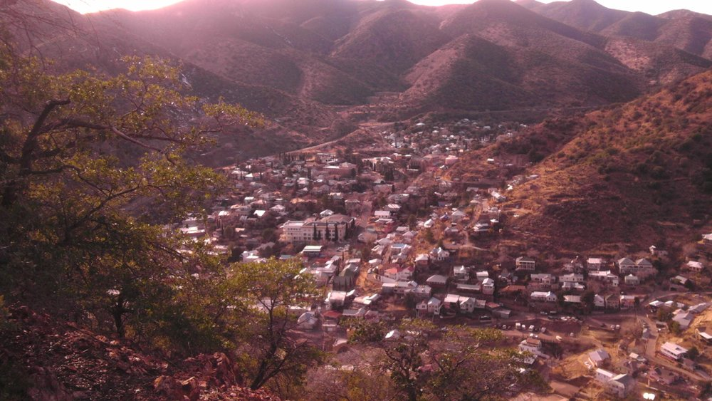 Bisbee, Arizona sits about 90 miles southeast of Tucson and is the county seat of Cochise County.  Photo by Mark Apel.