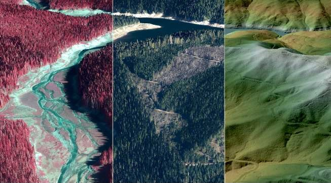 Figure 2 - A great example of lidar used for vegetation and bare earth imagery. Courtesy of Quantum Spatial.