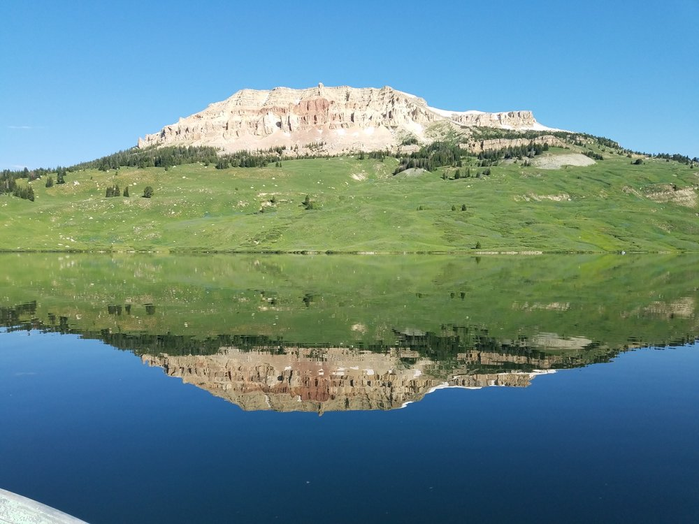 Clay Butte at Beartooth Lake in the Beartooth Mountains. Photo by Patti Umphlett.