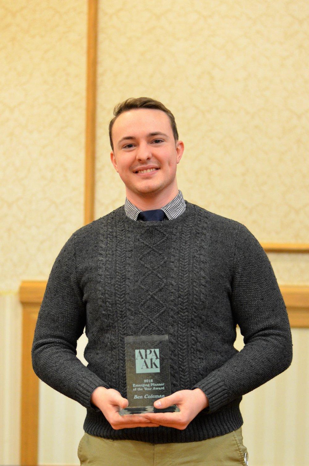 Award for Emerging Planner - Ben Coleman
