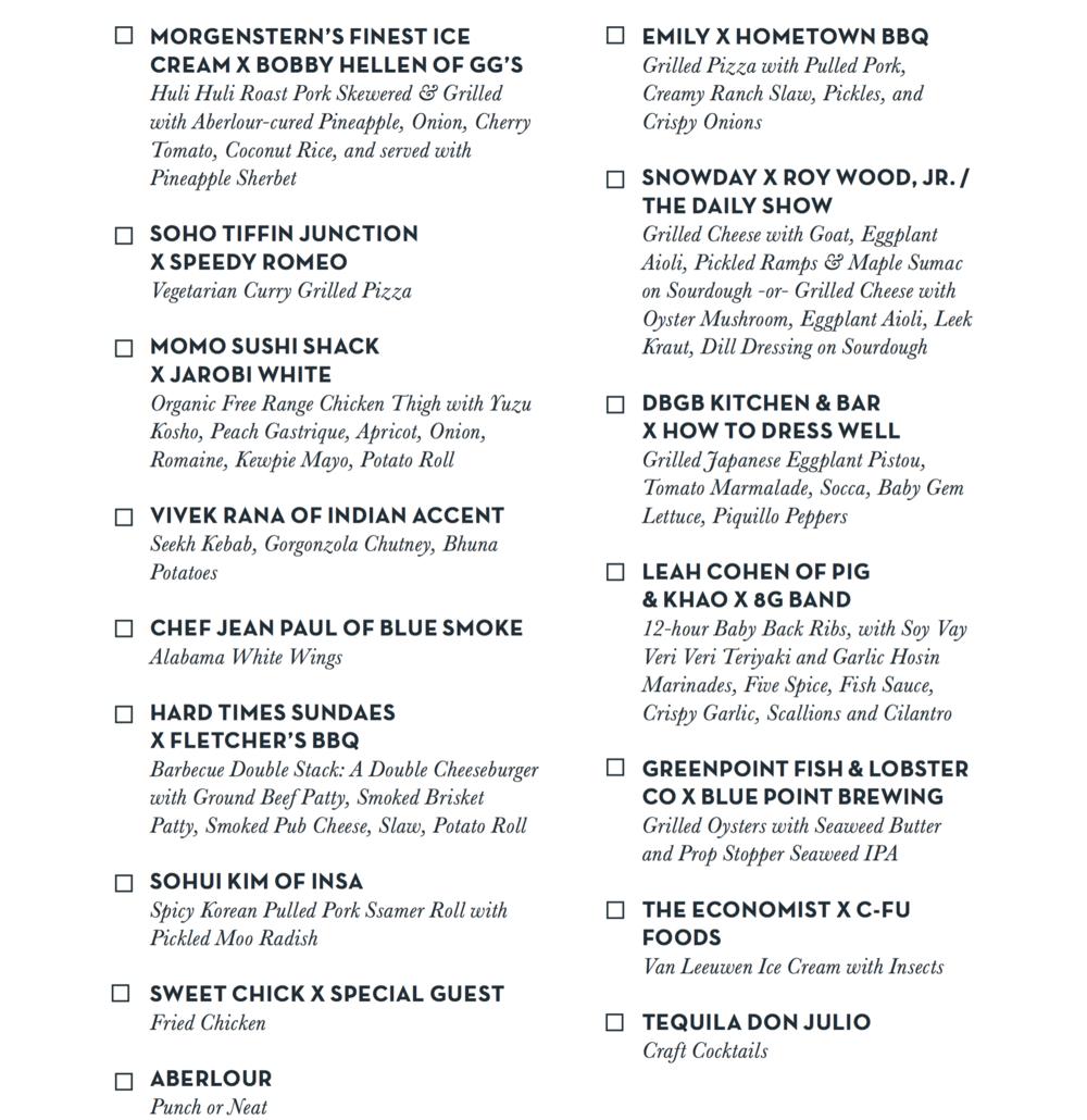 All-Star BBQ — Taste Talks Brooklyn
