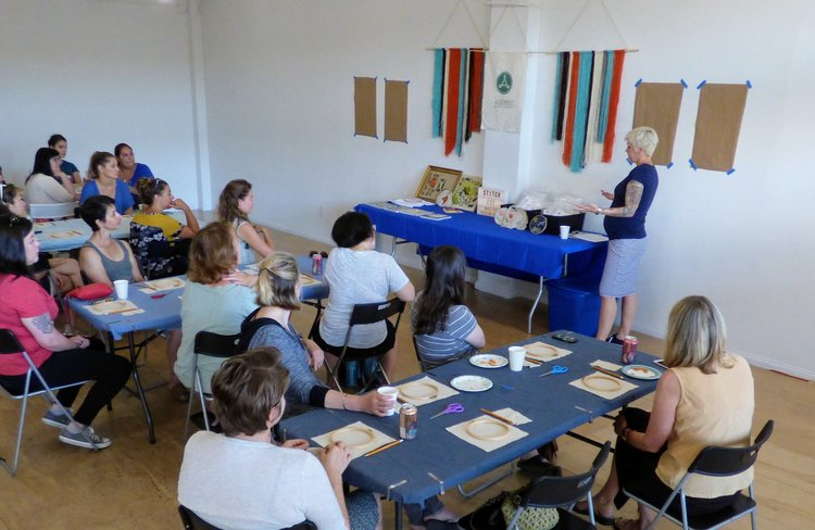 Summertime Stitching At Beginners Embroidery Class Assembly