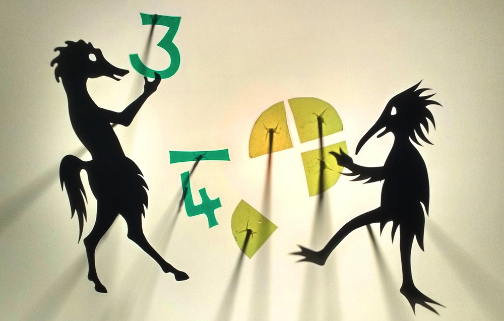 Shadow puppets maths workshop
