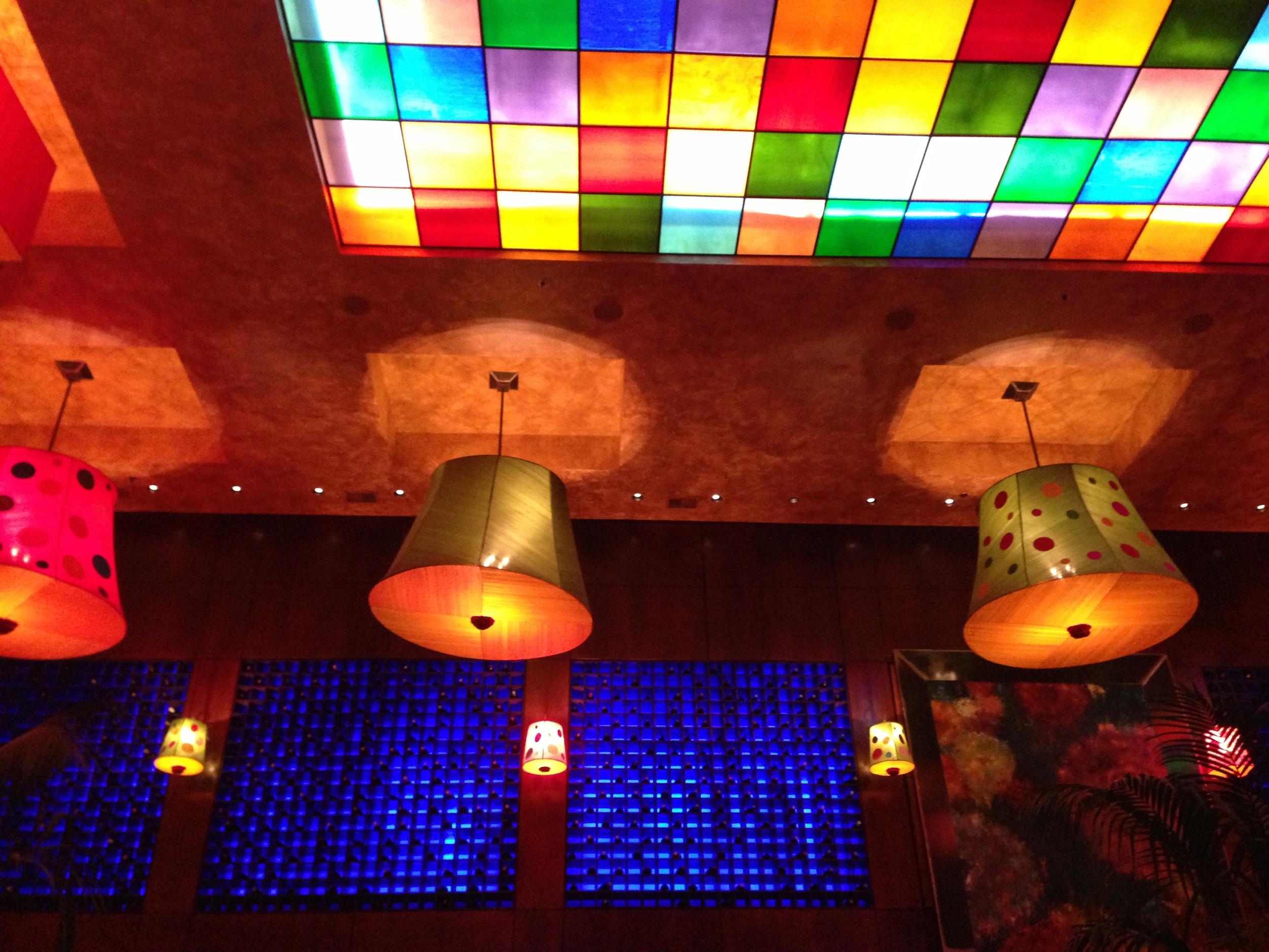 Figure 1. Colorful restaurant decorations