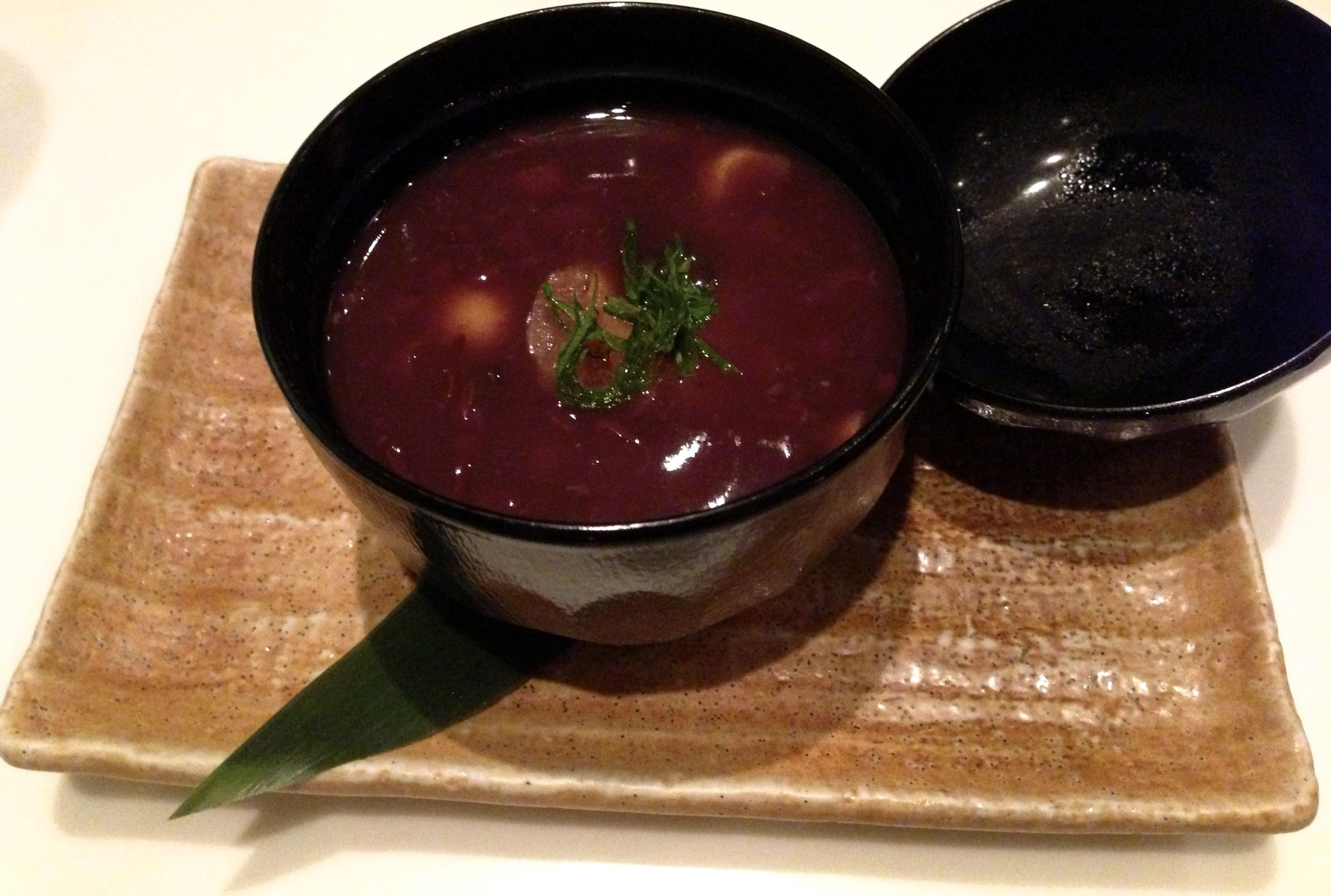 Figure 12. Oshiruko: red bean soup