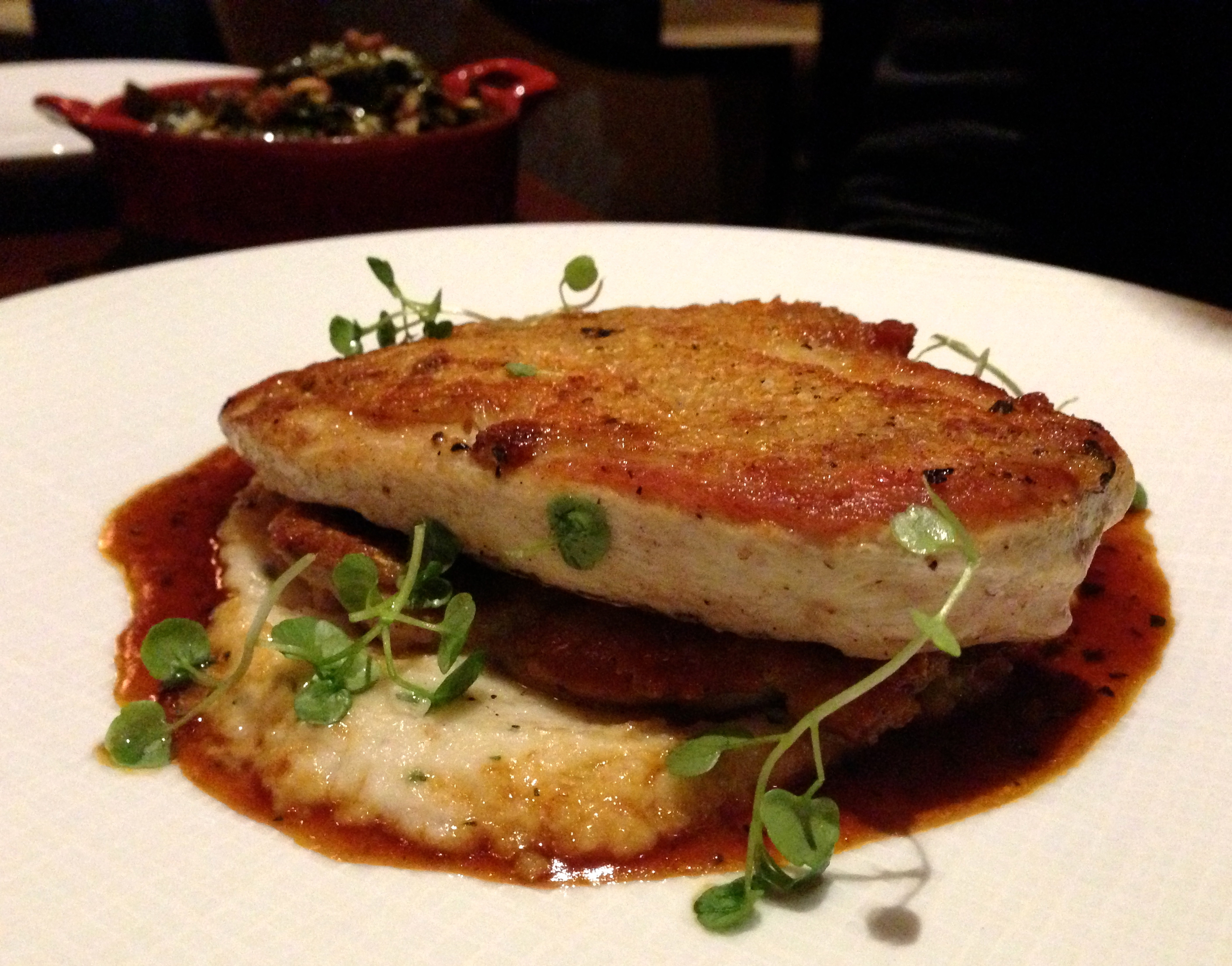 Figure 12. Crispy brick chicken with polenta and chicken jus