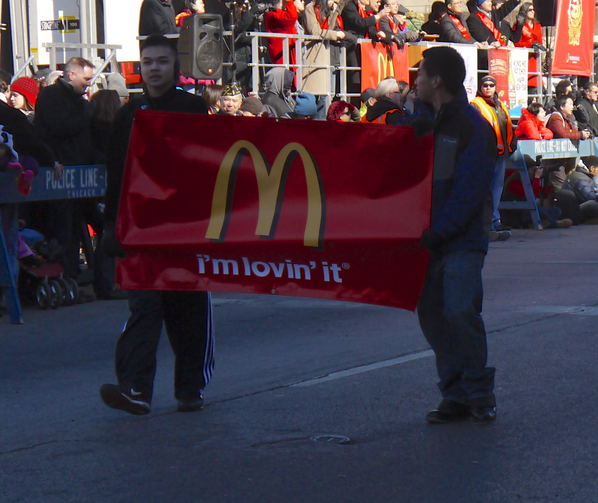 What's a parade without McDonald's?
