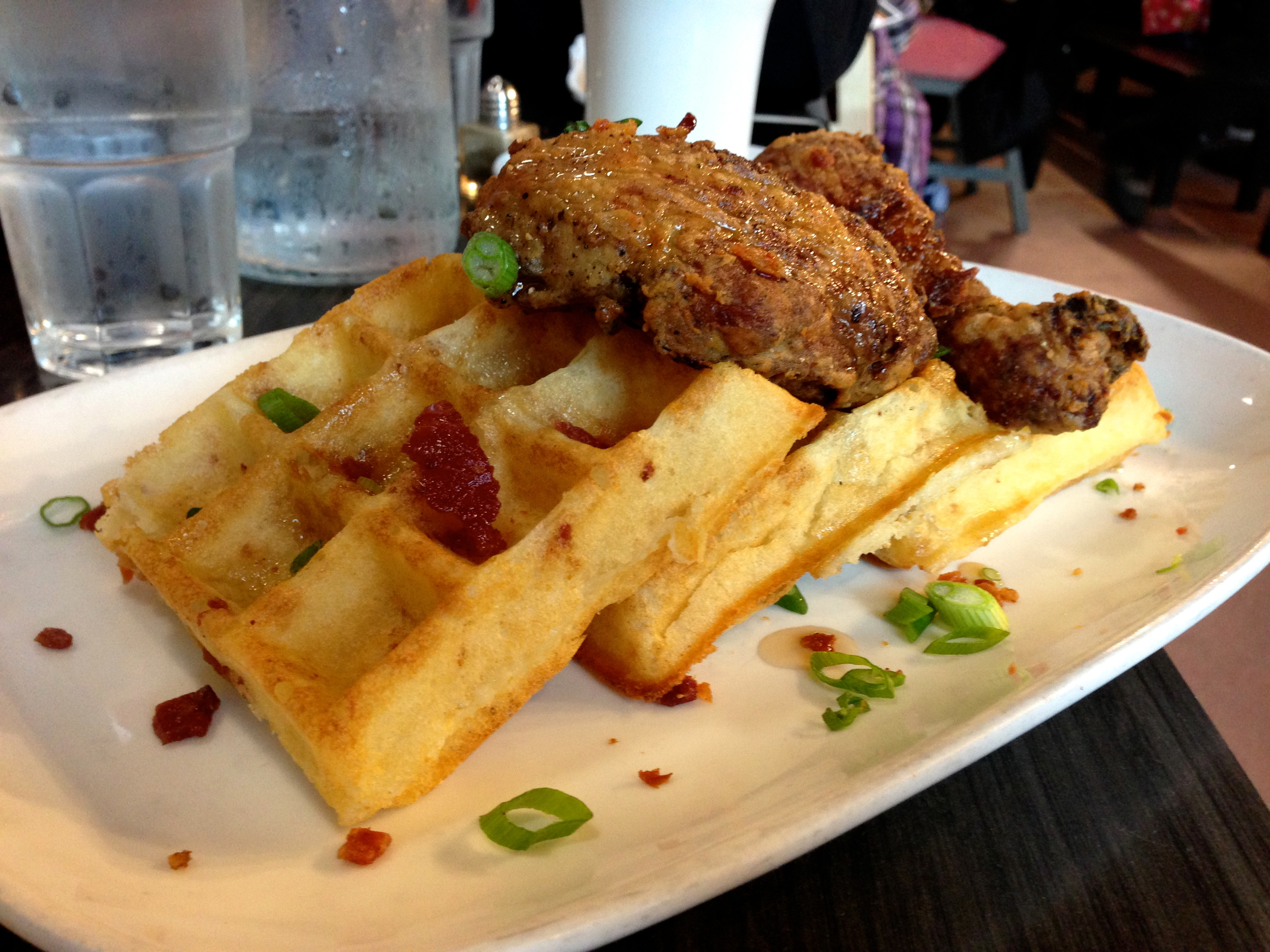 Figure 3. Chicken and bacon waffles
