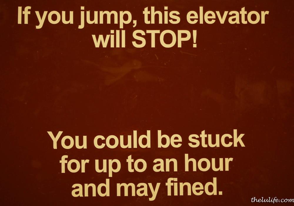 Figure 2. Elevator sign