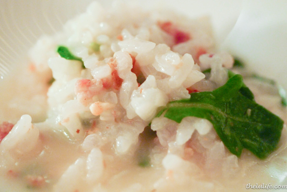 Figure 9. Risotto with bacon, prawns and chives