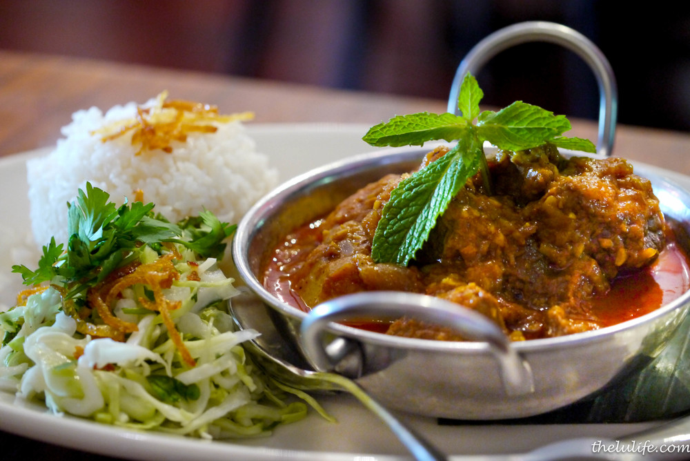 Burmese-style lamb curry