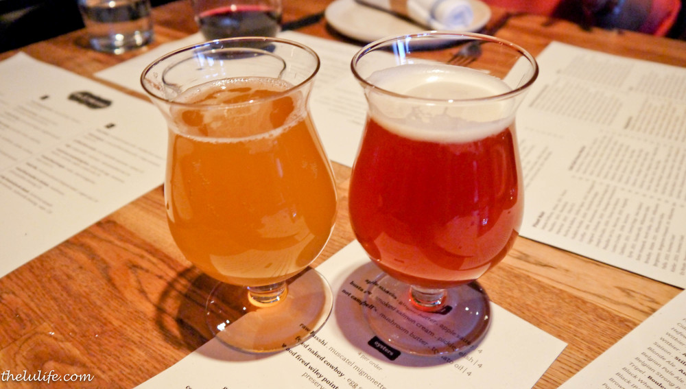 Wedding beer and pumpkin ale
