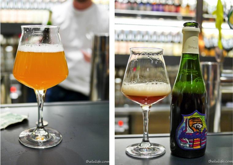 Left: Baladin Wayan (Saison) Right: Del Borgo Maledetta (Saison/IPA blend)