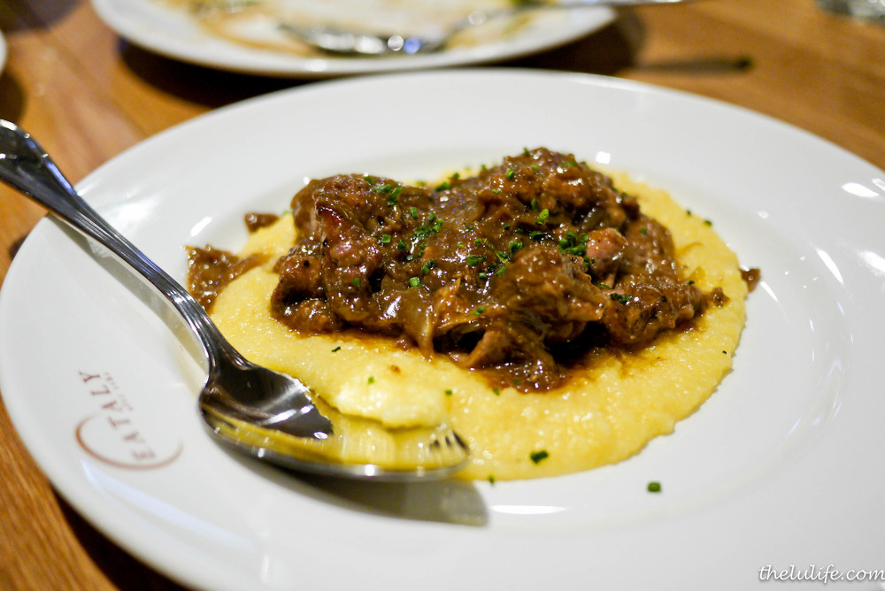 Fegato alla Veneziana - seared calves liver with caramelized onion, polenta and balsamic veal glaze