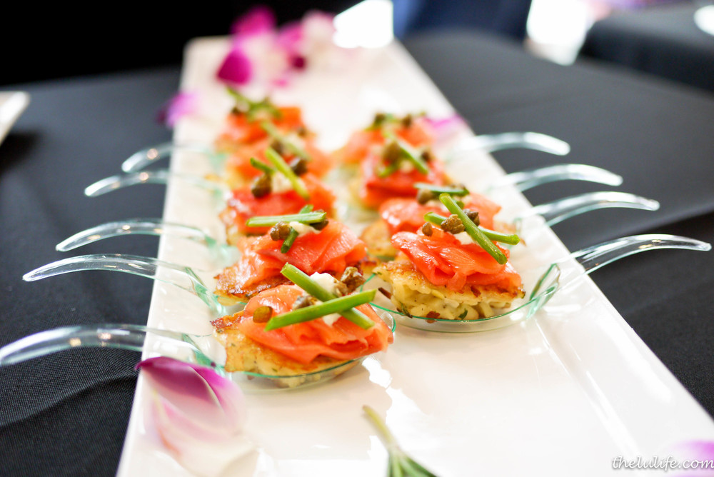 Handmade potato galette with leeks, smoked salmon, chives and popped capers by Savor
