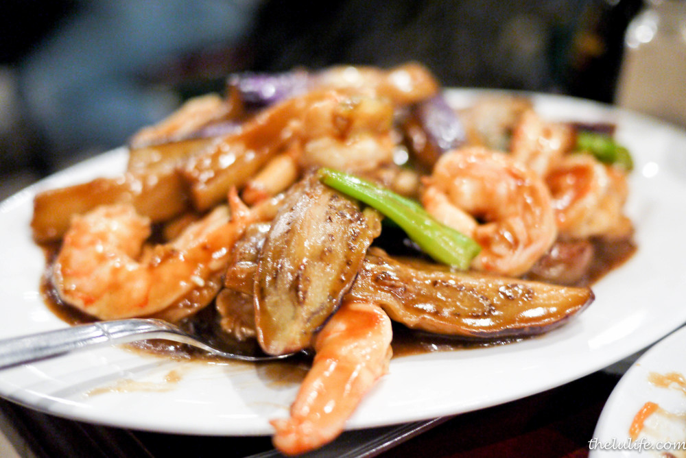Eggplant and shrimp