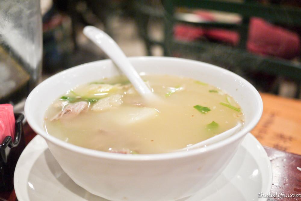 Duck carcass soup