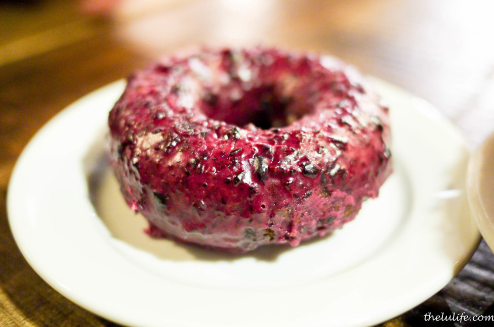 Blueberry doughnut