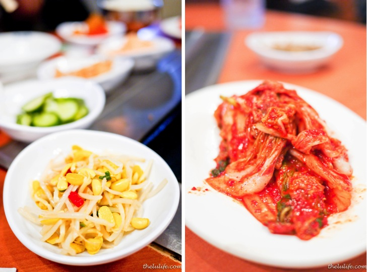Left: Banchan Right: Kimchi