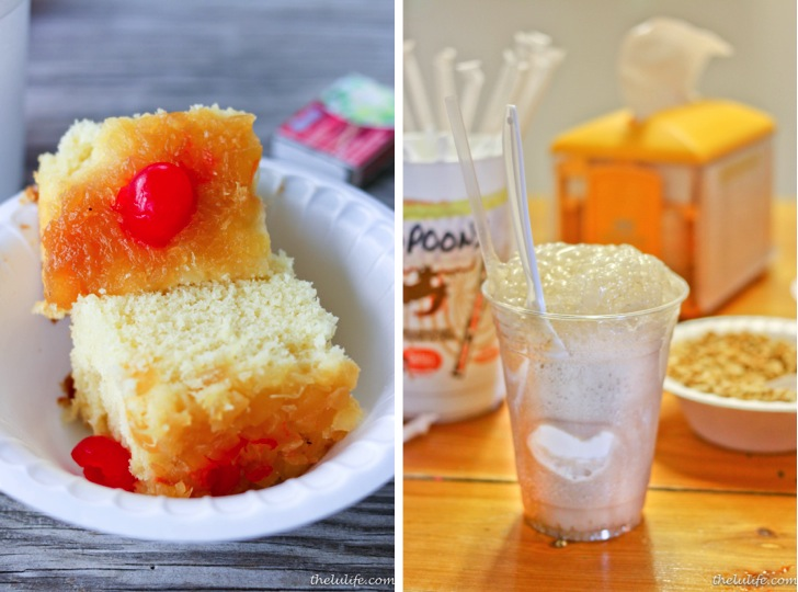 Left: Pineapple upside down cake Right: Root beer float