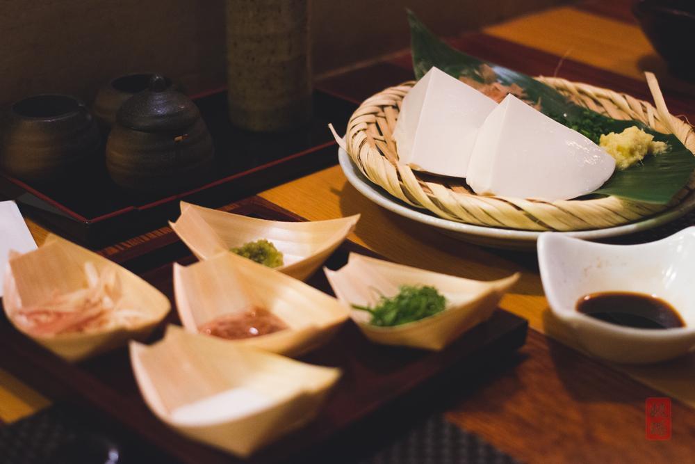 Zaru tofu with nine toppings