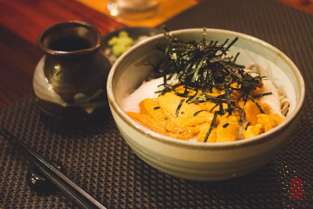 Uni cold soba - sea urchin with grated mountain yam