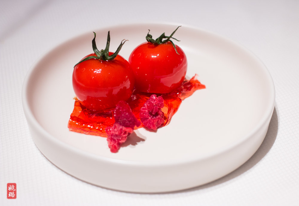 IMG_8344 Tomatoes glazed in champagne, filled with mayo.jpg