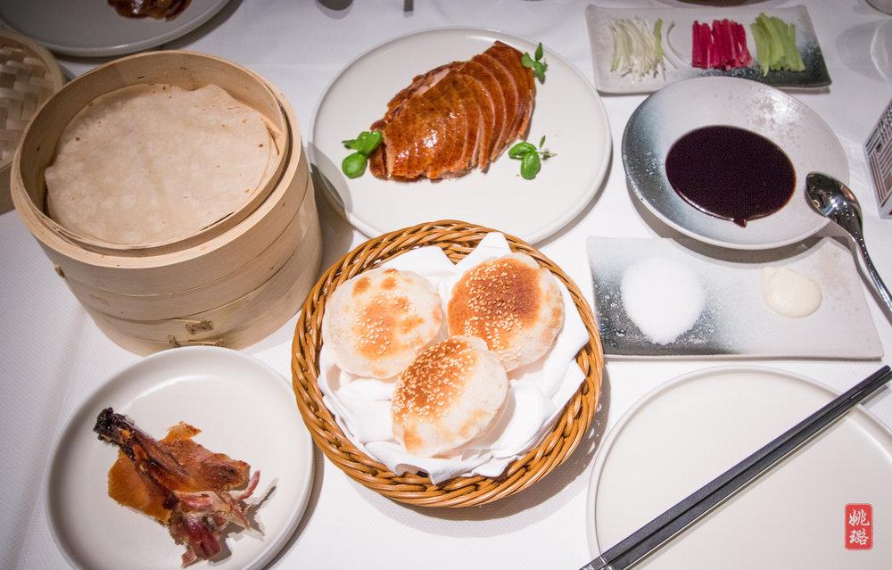 IMG_8408 DaDong SuBuNi Roast Duck with sugar, pancakes, crispy sesame buns and special sauces.jpg