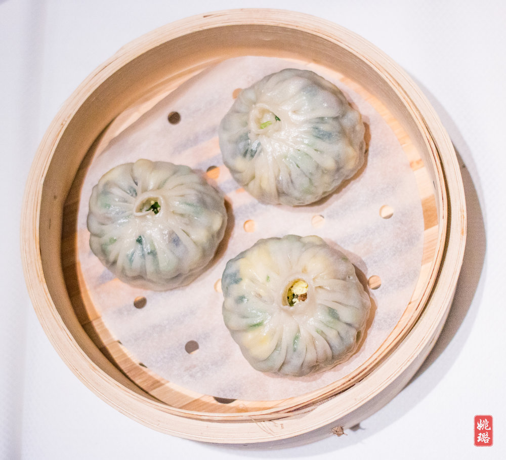 - And this is what you get as a vegetarian: steamed veggie buns...