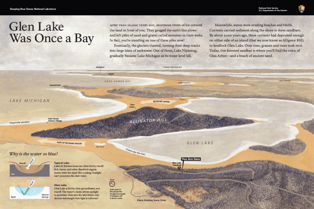 Wayside #2: Glen Lake Overlook