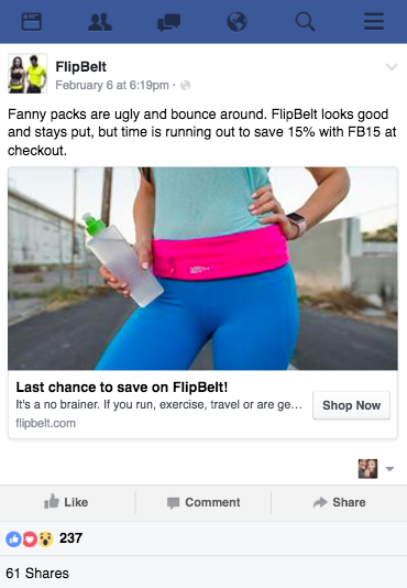 FlipBelt Facebook Funnel Ad FlashStock