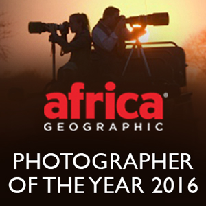 Africa Geographic's photographer of the year, 2016