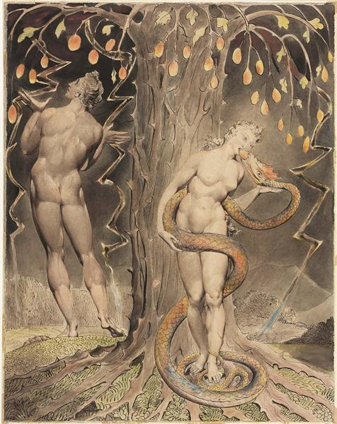 "William Blake's ""Temptation of Eve,"" 1808"