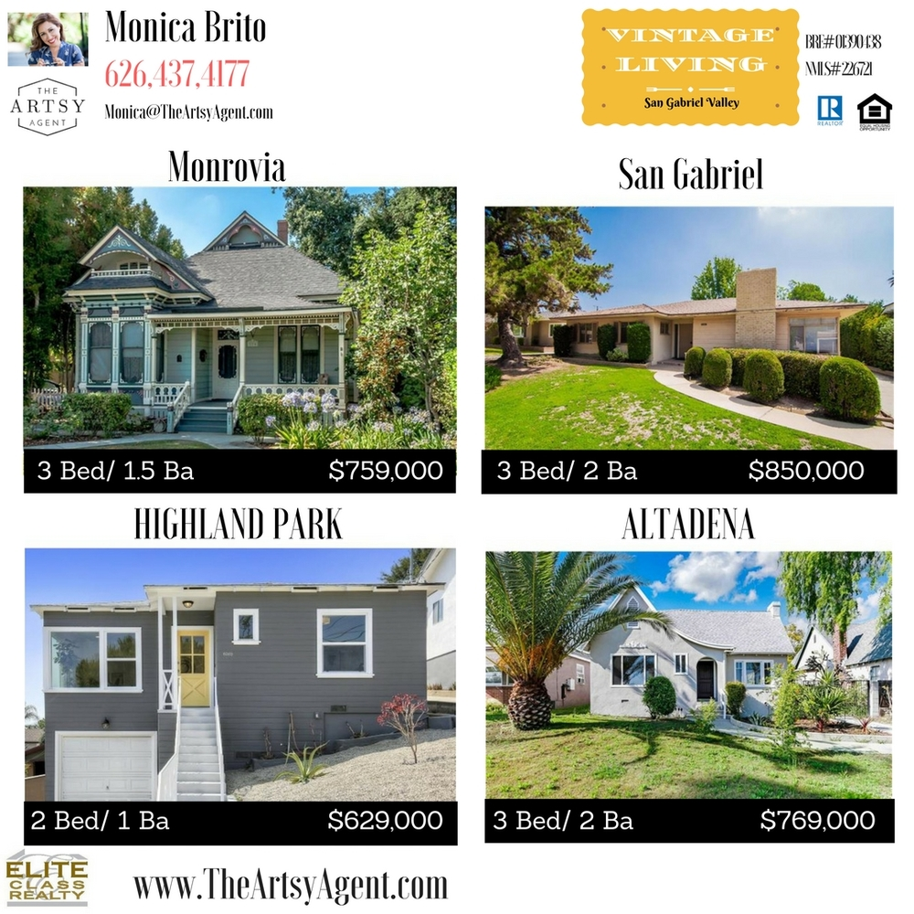 Monrovia San Gabriel Altadena Highland Park Vintage Houses For Sale
