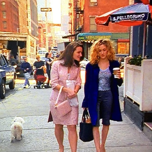 """It's a snap of a TV screen yielding great capri pants on Carrie Bradshaw, season one episode eight but who's counting!"" by Leandra medine"