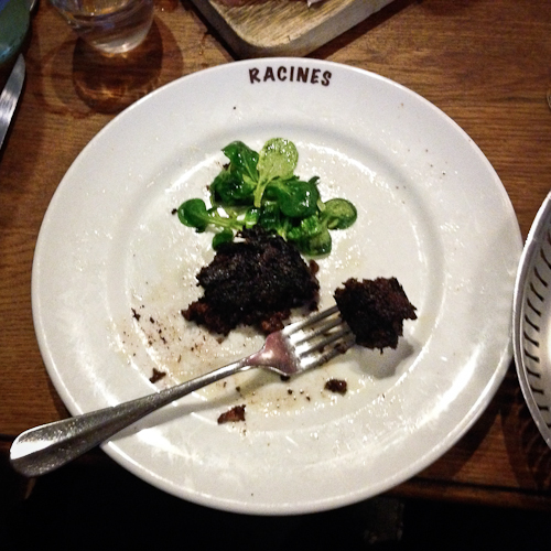 End Of The Meal | blood pudding @ Racines in Paris.