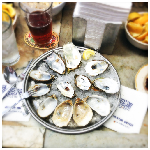 End Of The Meal | Oysters at Swan Oyster Depot in San Francisco.