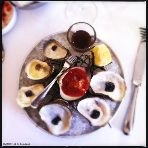 Oysters @ Aquagrill (Blue Points from New York &La St. Simon Oysters from New Brunswick)