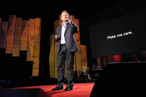 Andrew Stanton on stage at TED2012. Photo: James Duncan Davidson