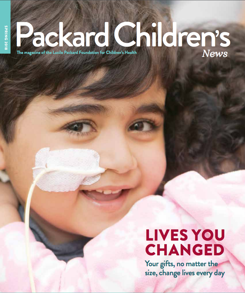 "Lucile Packard Children's Hospital Stanford<a href=""/packard-childrens-news""> </a><strong>Donor Magazine</strong>"