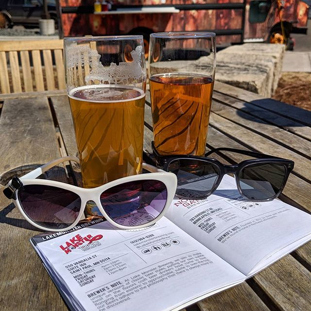 Beautiful #patioweather to use our @northaleguide to try @lakemonsterbrewing #capturesaintpaul  #mysaintpaul #mnbeer #sunnies
