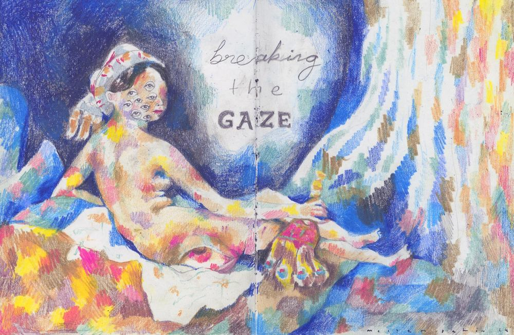 Breaking the Gaze  parody to Jean-Auguste-Dominique Ingres'   Grande Odalisqu e , 2014