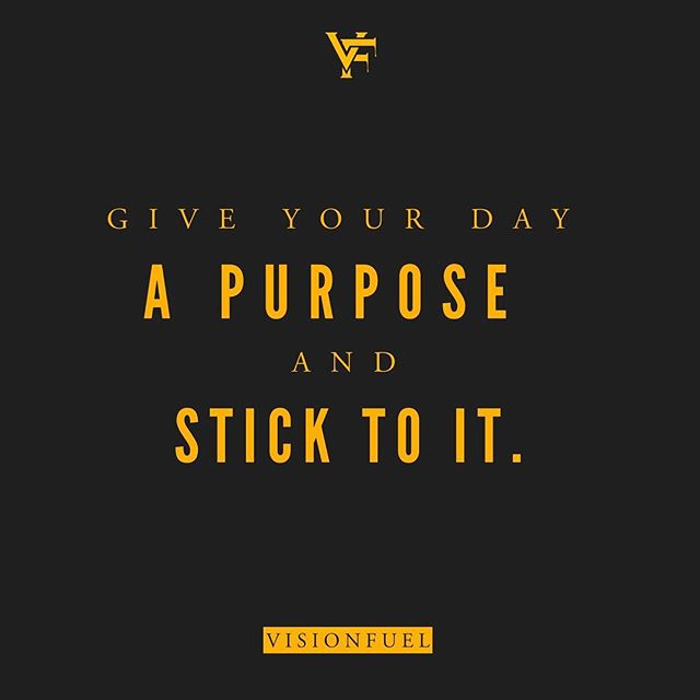 Motivation Monday, Tough Tuesday.. Workit Wednesday.... When you give your day an identity, it has a focus and it's easier to stick to its goals. Give your day a purpose and stick to it...CEO's do this to manage their days and not lose their minds in the process...You can do this too, Visionary.... #VisionFuel