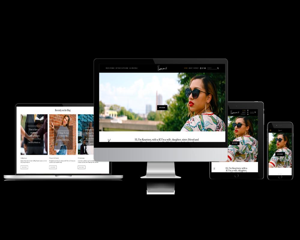 Kourtney With a K (Blogger Brand Website)
