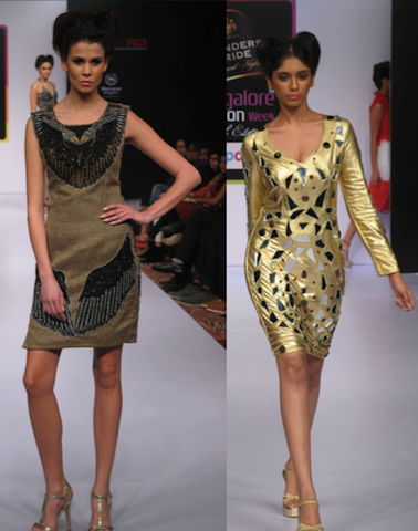 Algunos diseños de The Dresser en la Bangalore Fashion Week