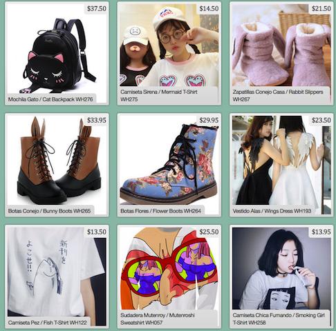 Artículos de la tienda Kawaii Clothing