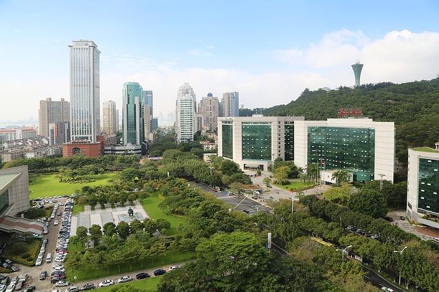 Vistas de la ciudad de Xiamen