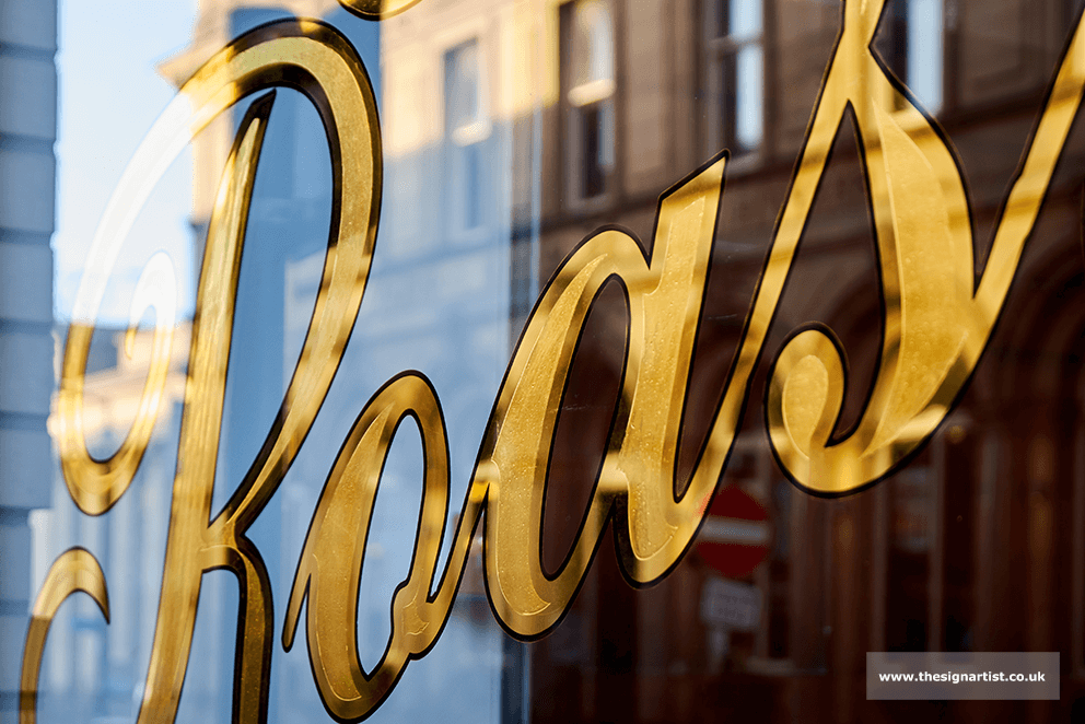 Boutique shop front sign