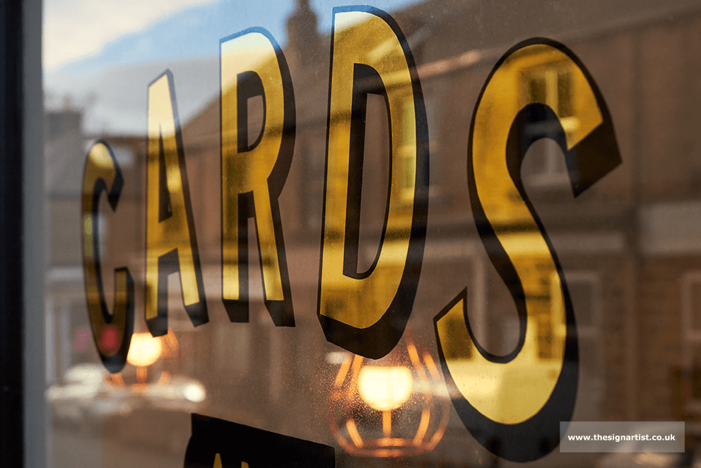 Gold Leaf heritage signwriting